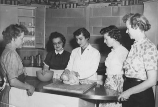 Ellen Glasser teaching nutrition at Michael Reese Hospital - circa 1950